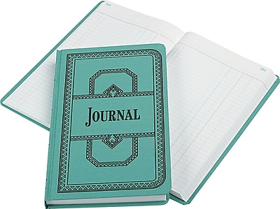 Boorum & Pease Record/Account Book, Journal Rule, Blue, 500 Pages, 12 1/8 x 7 5/8