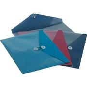 "Pendaflex ViewFront Poly Envelope with Pocket, Assorted Colors, 9 1/2"" x 12 1/2"", 4/Pk"