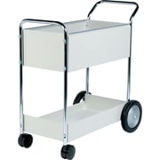 "Fellowes® Steel Mail Cart, Dove Grey, 39""H x 20""W x 40 1/2""D"