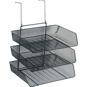 "Fellowes® Mesh Partition Additions™ Triple Tray, Black, 17 3/8""H x 11 1/8""W x 14""D"