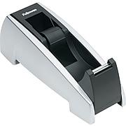 """Fellowes® Office Suites™ Tape Dispenser, Black/Silver, 2-4/9""""H x 2-1/3""""W x 6-3/8""""D"""