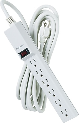Fellowes® 6-Outlet Power Strips, 15' Cord