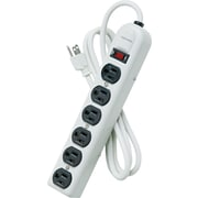 "Fellowes® 6-Outlet Metal Power Strip, Platinum, 1-3/8""H x 12-1/5""W x 2-1/2""D"