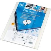 GBC® - Couvertures de présentation Clear View Premium Plus, givré, coins carrés, paq./25