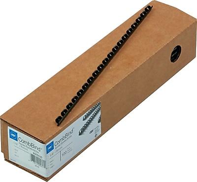 GBC® CombBind® Plastic Binding Spines, 1/4
