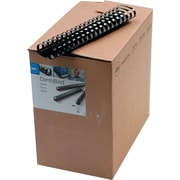 "GBC CombBind Plastic Binding Spines, Black, 2"", 425 Sheet Capacity, 50/Pack"