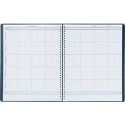 """House of Doolittle Lesson Plan Book, Embossed Leather-Like Cover, 8 1/2"""" x 11"""", Blue"""