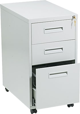 "basyx™ Mobile Vertical File Cabinets with ""M"" Pulls"