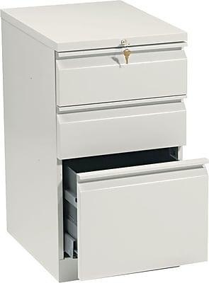 HON® Brigade® Efficiencies™ Mobile Pedestal, Box/Box/File, Putty, 19-1/2