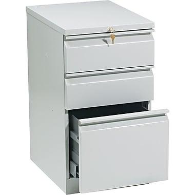 HON Brigade 3 Drawer Mobile/Pedestal File, Gray,Letter, 15''W (H33720RQ)