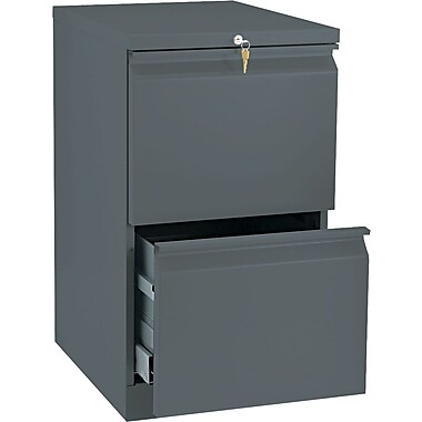 HON Brigade 2 Drawer Mobile/Pedestal File, Charcoal,Letter, 15''W (H33820RS)