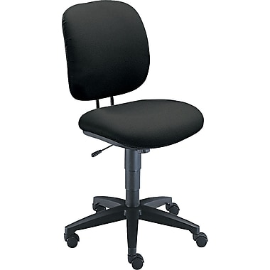 HON ComforTask Fabric Computer and Desk Office Chair, Armless, Black (H5902AB10T.COM) NEXT2017