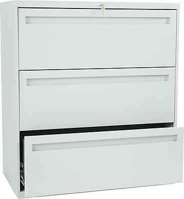 HON Brigade™ 700 Series 3 Drawer Lateral File, Gray,Letter/Legal, 36''W (HON783LQ)