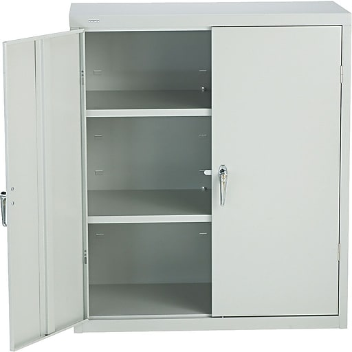 Hon Brigade 3 Shelf Embled Storage Cabinets 42 H X 36 W 18 D Light Gray Staples