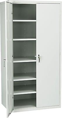 HON® Brigade 5-Shelf Storage Cabinet, Light Gray, 72