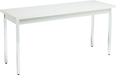 HON 20''Lx60''D Rectangular Utility Table, Gray/Gray (HONUTM2060QQCHR)
