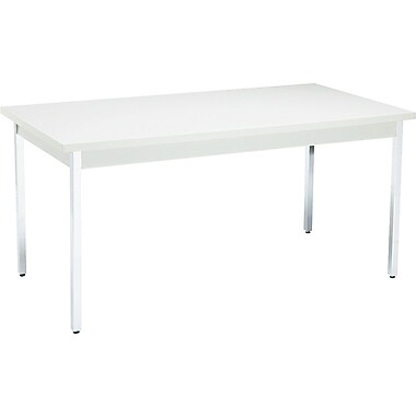HON 30''Lx60''D Rectangular Utility Table, Gray/Gray (HONUTM3060QQCHR)