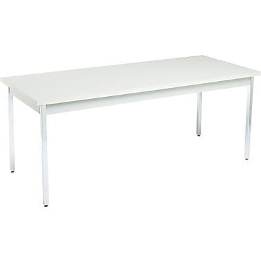 HON 30''Lx72''D Rectangular Utility Table, Gray/Gray (HONUTM3072QQCHR)