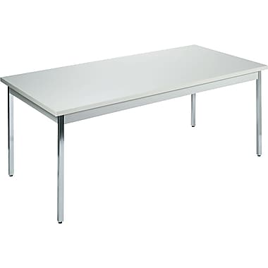 HON 36''Lx72''D Rectangular Utility Table, Gray/Gray (HONUTM3672QQCHR)