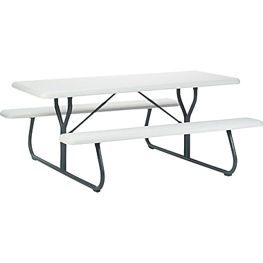 Iceberg Indestruc-Table Picnic Table, Platinum