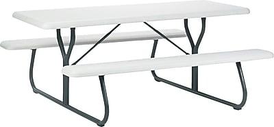 Iceberg Indestruc-Table Picnic Table, Platinum