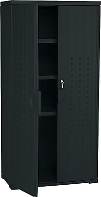 Iceberg Resinite Storage Cabinet, Black, 66