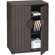 "Iceberg® Officeworks® Polyethylene Storage Cabinet, Non-Assembled, 46Hx36Wx22D"", Black"