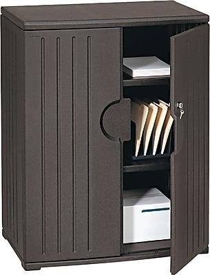 Iceberg Resinite Storage Cabinet, Black, 46