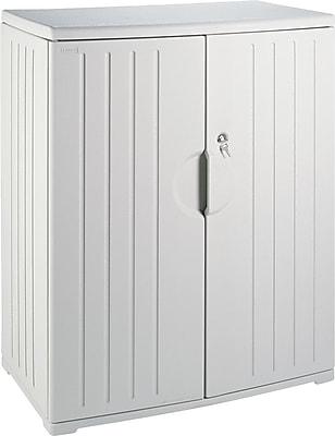 Iceberg Resinite Storage Cabinet, Platinum, 46