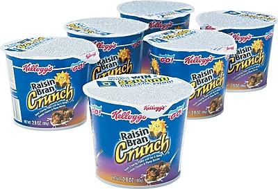 Kellogg's® Raisin Bran Crunch® Breakfast Cereal, 2.8 oz. Cups, 6 Cups/Box