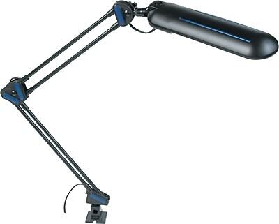 Ledu Adjustable Fluorescent Task Clamp Lamp, Black