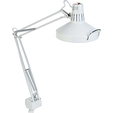 Ledu Incandescent/Fluorescent Clamp-On Lamp, White