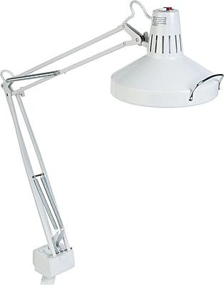 Ledu Incandescent/Fluorescent Clamp-On Lamp, White