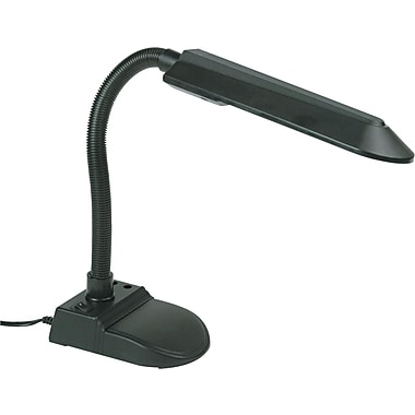 Ledu Fluorescent Gooseneck Desk Lamp, Black