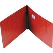 "Acco Report Covers with Fasteners, 2 3/4"" c. to c.: 2"" Capacity, 8-1/2"" x 14"", Pressboard, Red"