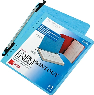 ACCO PRESSTEX® Hanging Report Cover, Light Blue, Letter size 8 1/2