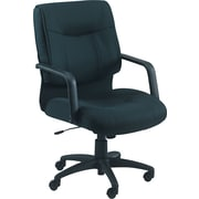 Alera Stratus Fabric Managers Office Chair, Fixed Arms, Black (ST42FA10B)