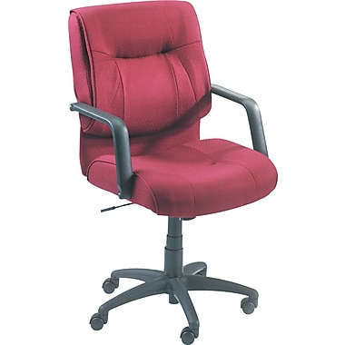 Alera Stratus Fabric Managers Office Chair, Fixed Arms, Burgundy (ST42FA30B)