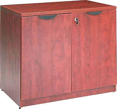 Alera Valencia Storage Cabinet, Medium Cherry, 29 1/2