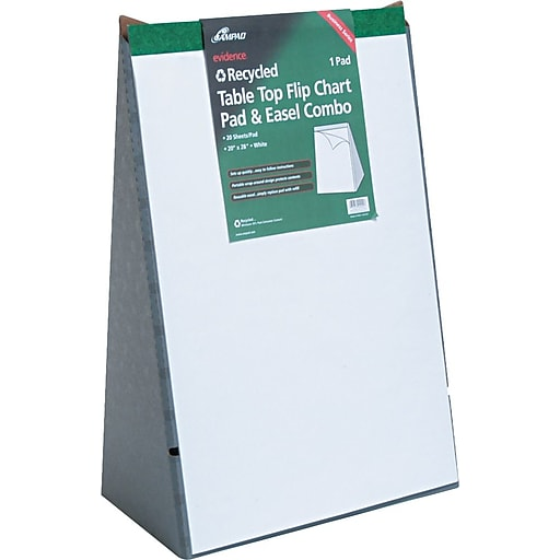 Ampad table top flip chart 20 sheets unruled white 20 h x 28 1