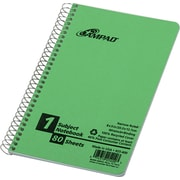 "Notebook, 1 Sub, 8"" x 5"", Green Cover, Narrow Ruled, 80 Sheets"