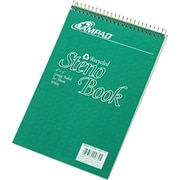 "Ampad Greencycle Spiral Steno Book, 6"" x 9"", Gregg Ruled, White, 40% Post-Consumer Waste, 80 Sheets/Pad (25-774)"