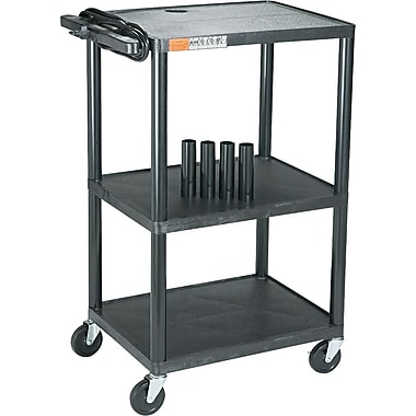 Adjustable-Height TV/AV Stand, Black