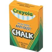 Crayola® Anti-Dust® Chalk, White, 12/Box