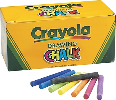 Crayola Colored Drawing Chalk, 144/Pack 641604