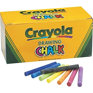 Crayola® Colored Drawing Chalk, 144/Pack