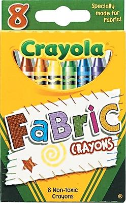 Crayola® Fabric Crayons, 8/Pack