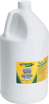 Binney & Smith Crayola® Washable Paints, White, 1 Gallon