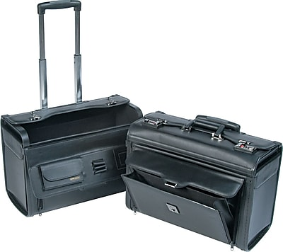Bond Street Catalog/Computer Case on Wheels, Black, 14 1/2