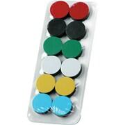 "Magna Visual High-Energy Circle Magnets, Assorted, 3/4"", 12/Pk"
